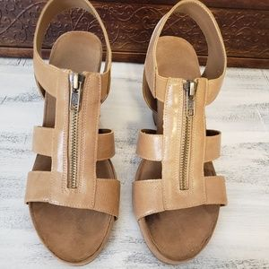 nude wedge strappy heel